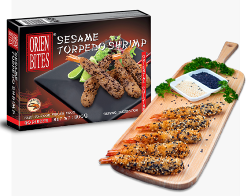 Sesame Torpedo Shrimp FF-OCBN-075 Packaging