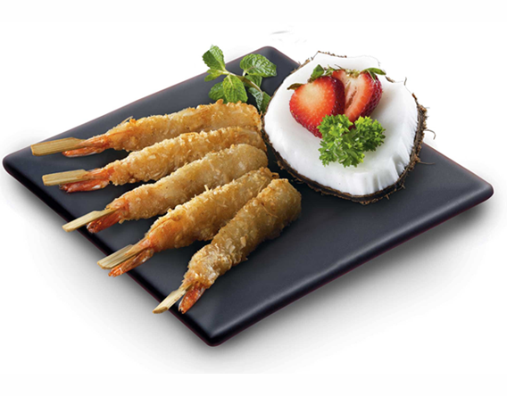 Traiteur Plate with a high-level Shrimp Skewer